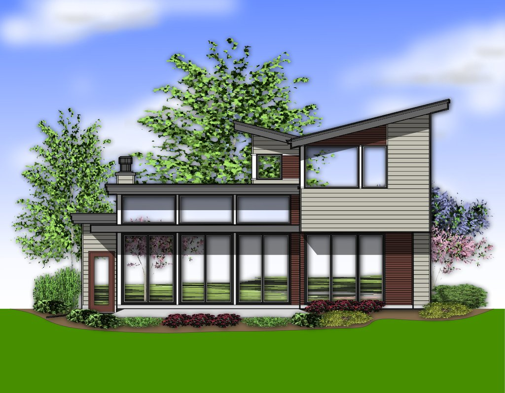 Modern style house plan 3 beds 2 5 baths 2047 sq ft plan for Modern house 48