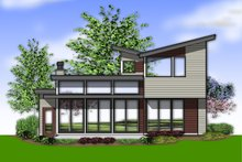 Home Plan - Modern Exterior - Rear Elevation Plan #48-637