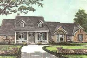 Colonial Exterior - Front Elevation Plan #310-238