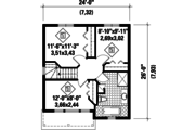 Contemporary Style House Plan - 3 Beds 2 Baths 1192 Sq/Ft Plan #25-4504 Floor Plan - Upper Floor Plan