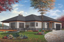 Dream House Plan - Craftsman Exterior - Front Elevation Plan #23-2712