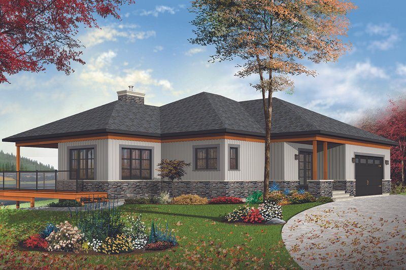 Architectural House Design - Craftsman Exterior - Front Elevation Plan #23-2712