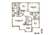Tudor Style House Plan - 3 Beds 2.5 Baths 2878 Sq/Ft Plan #487-6 Floor Plan - Upper Floor