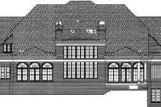 Classical Style House Plan - 5 Beds 5.5 Baths 6095 Sq/Ft Plan #119-181 Exterior - Rear Elevation