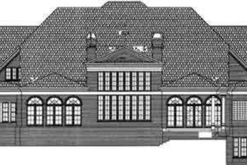 Classical Exterior - Rear Elevation Plan #119-181 - Houseplans.com
