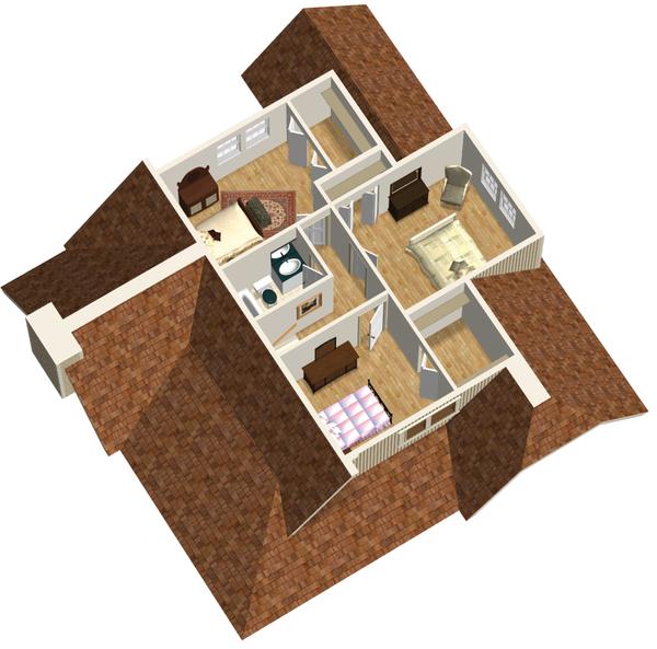 Country Floor Plan - Upper Floor Plan #25-4744