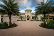 Mediterranean Style House Plan - 4 Beds 4.5 Baths 4287 Sq/Ft Plan #930-508 Exterior - Front Elevation