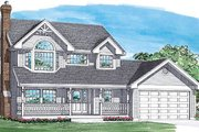 Traditional Style House Plan - 3 Beds 2.5 Baths 1880 Sq/Ft Plan #47-263 Exterior - Front Elevation
