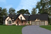 Craftsman Style House Plan - 3 Beds 2.5 Baths 2666 Sq/Ft Plan #119-366 Exterior - Front Elevation