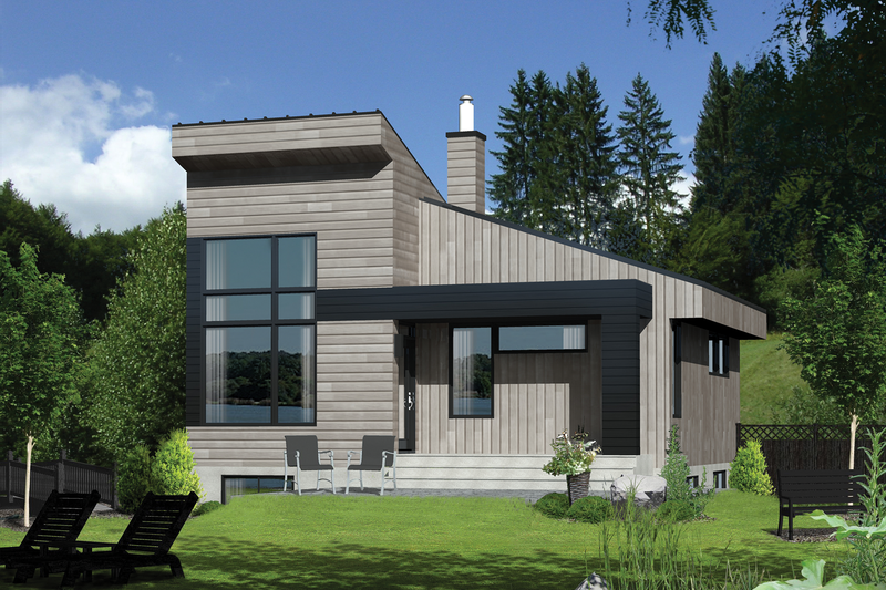Contemporary Style House Plan - 1 Beds 1 Baths 813 Sq/Ft Plan #25-4409