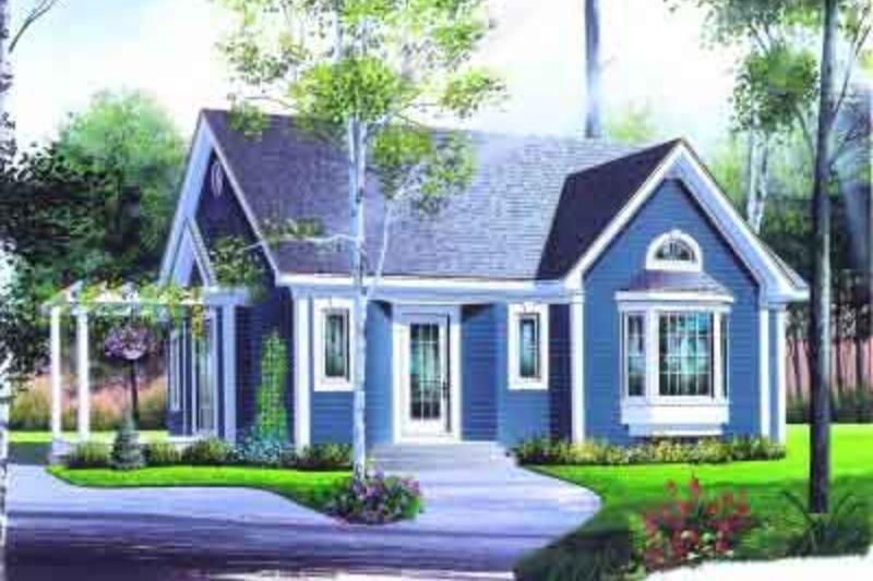 Cottage Exterior - Front Elevation Plan #23-599