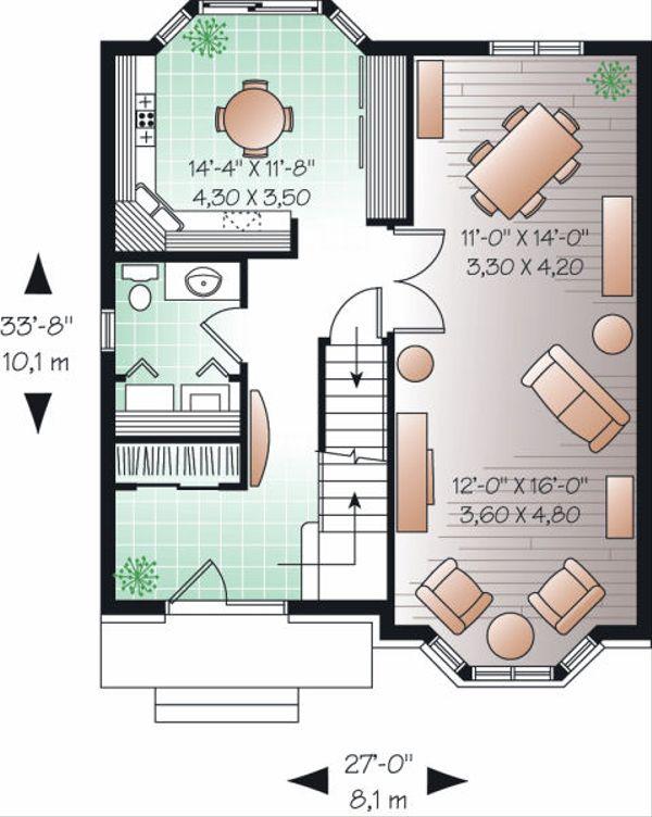 Colonial Floor Plan - Main Floor Plan Plan #23-862