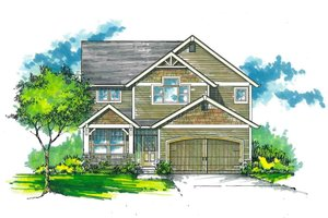 Architectural House Design - Craftsman Exterior - Front Elevation Plan #53-486