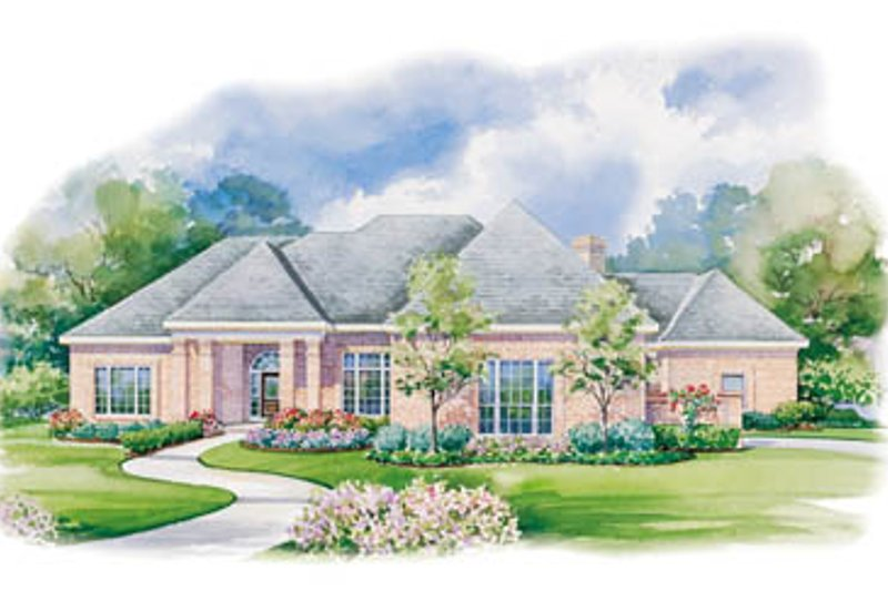 Country Exterior - Front Elevation Plan #20-1112