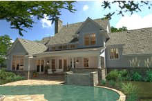 Architectural House Design - Country style home, rear elevation