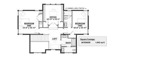 Farmhouse Floor Plan - Upper Floor Plan Plan #928-309