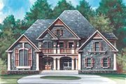 European Style House Plan - 4 Beds 3.5 Baths 3255 Sq/Ft Plan #119-140 Exterior - Front Elevation