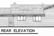 Traditional Style House Plan - 3 Beds 2 Baths 1383 Sq/Ft Plan #18-9069 Exterior - Rear Elevation