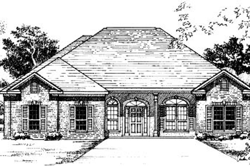 Traditional Style House Plan - 4 Beds 2 Baths 2100 Sq/Ft Plan #37-171 Exterior - Front Elevation