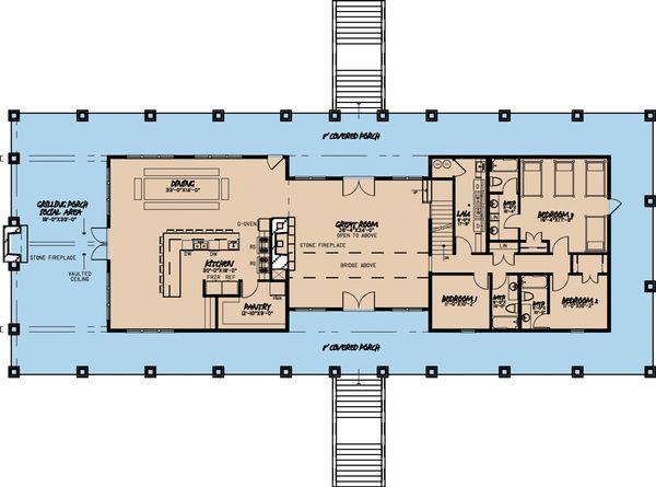 Home Plan - Craftsman Floor Plan - Main Floor Plan #923-10