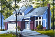 Home Plan - Contemporary Exterior - Front Elevation Plan #23-723