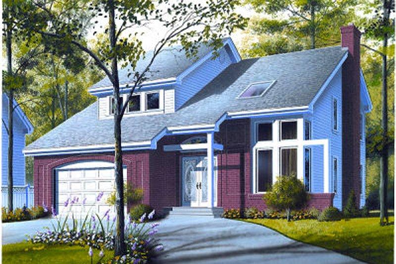 Contemporary Exterior - Front Elevation Plan #23-723 - Houseplans.com