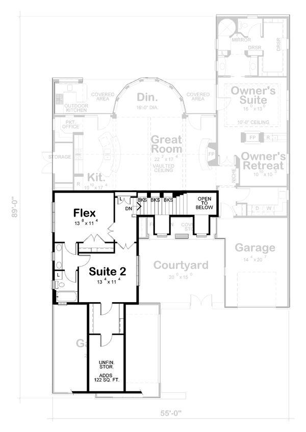 Dream House Plan - European Floor Plan - Upper Floor Plan #20-2437