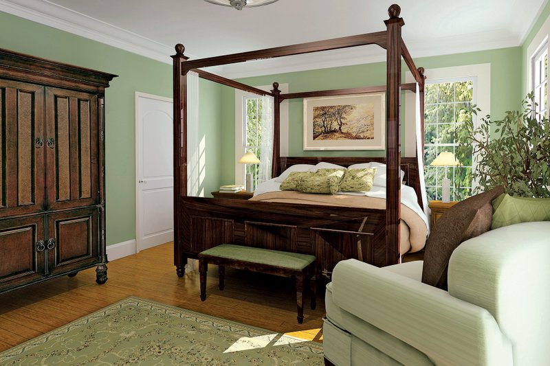 Country Interior - Master Bedroom Plan #929-18 - Houseplans.com