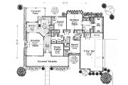 Traditional Style House Plan - 3 Beds 2.5 Baths 2144 Sq/Ft Plan #310-612 Floor Plan - Main Floor