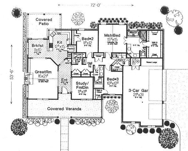 Traditional Floor Plan - Main Floor Plan #310-612