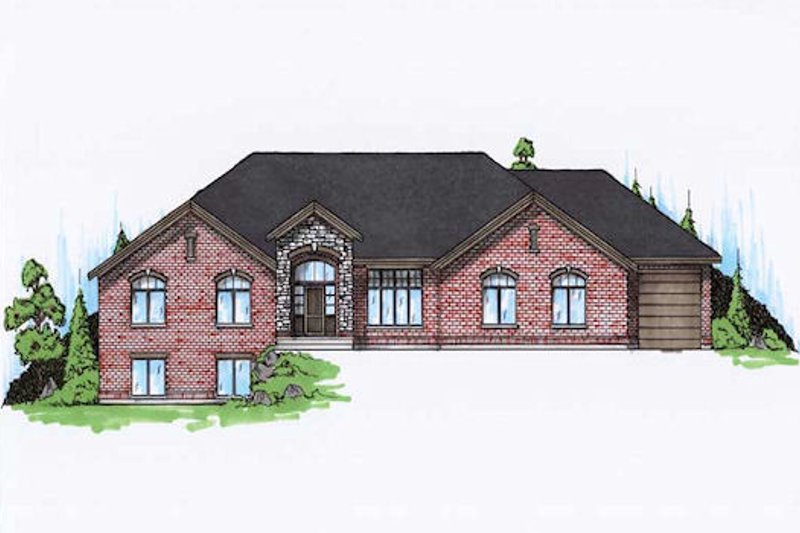 Home Plan - Traditional Exterior - Front Elevation Plan #5-309