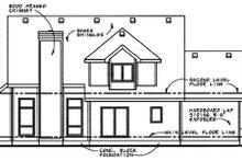 Home Plan Design - Traditional Exterior - Rear Elevation Plan #20-263