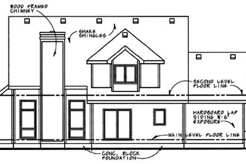 Traditional Exterior - Rear Elevation Plan #20-263 - Houseplans.com
