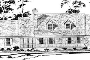 Country Exterior - Front Elevation Plan #10-251