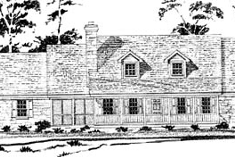 Country Style House Plan - 4 Beds 3 Baths 2467 Sq/Ft Plan #10-251 Exterior - Front Elevation