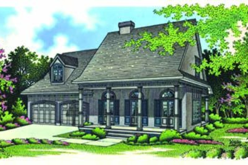 Dream House Plan - Southern Exterior - Front Elevation Plan #45-195