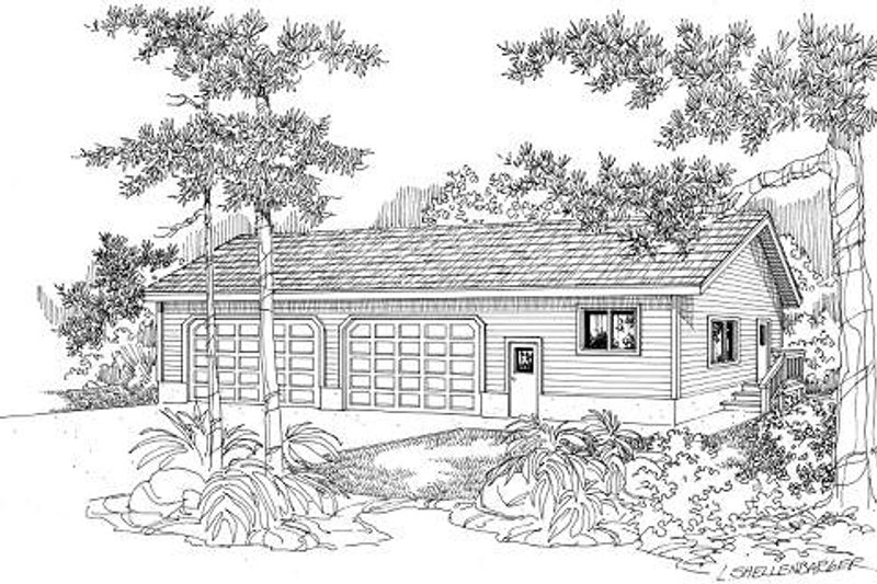 Traditional Exterior - Front Elevation Plan #124-630