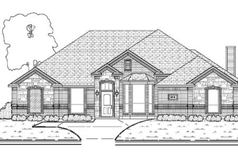 Traditional Exterior - Other Elevation Plan #84-375 - Houseplans.com