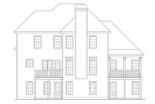 Dream House Plan - Traditional Exterior - Rear Elevation Plan #419-118