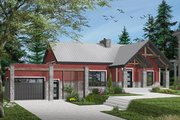 Ranch Style House Plan - 3 Beds 1 Baths 1604 Sq/Ft Plan #23-2649 Exterior - Front Elevation