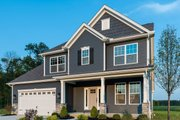 Craftsman Style House Plan - 3 Beds 2.5 Baths 1995 Sq/Ft Plan #20-2154 Exterior - Front Elevation