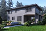 Contemporary Style House Plan - 4 Beds 4 Baths 3450 Sq/Ft Plan #1066-47 Exterior - Rear Elevation