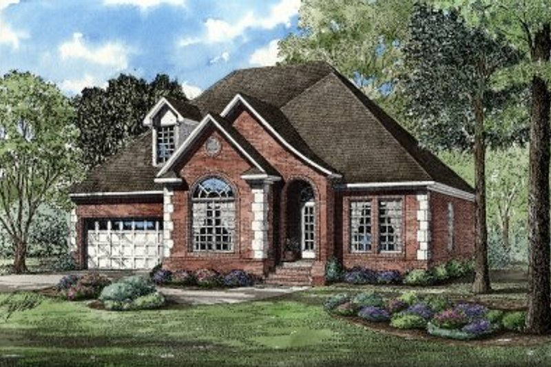 Dream House Plan - European Exterior - Front Elevation Plan #17-282