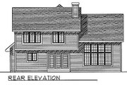 Traditional Style House Plan - 3 Beds 2.5 Baths 2031 Sq/Ft Plan #70-285 Exterior - Rear Elevation