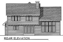 Dream House Plan - Traditional Exterior - Rear Elevation Plan #70-285