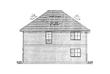 Traditional Exterior - Rear Elevation Plan #18-9540