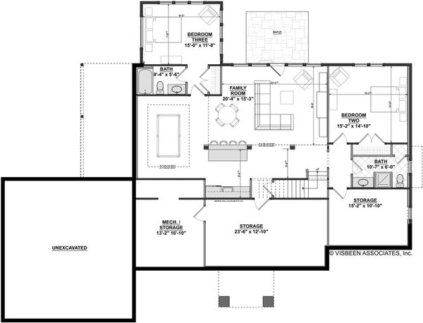Home Plan - Finished Basement Level