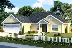 Home Plan Design - Traditional Exterior - Front Elevation Plan #513-18