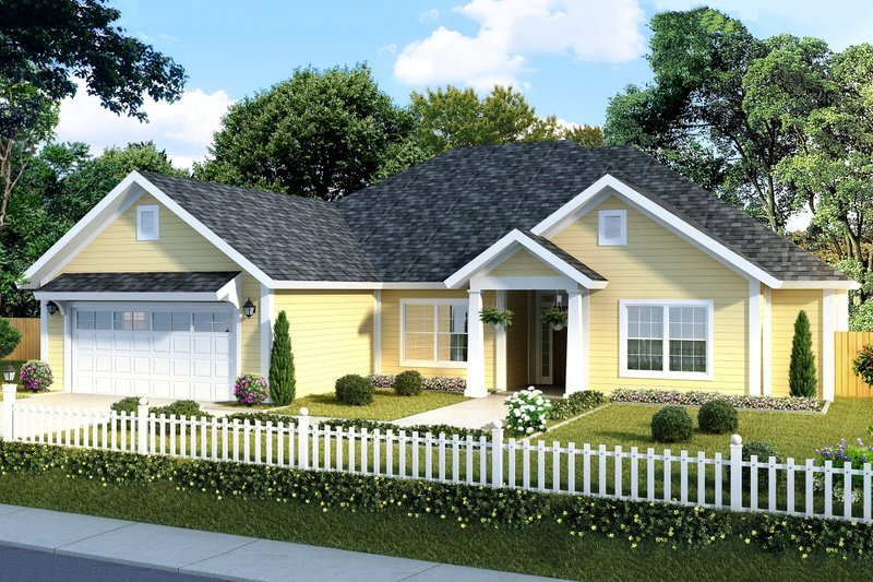 Traditional Exterior - Front Elevation Plan #513-18 - Houseplans.com