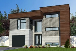 Modern Exterior - Front Elevation Plan #138-379